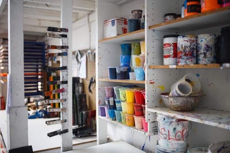 Setting up a creative work space / studio
