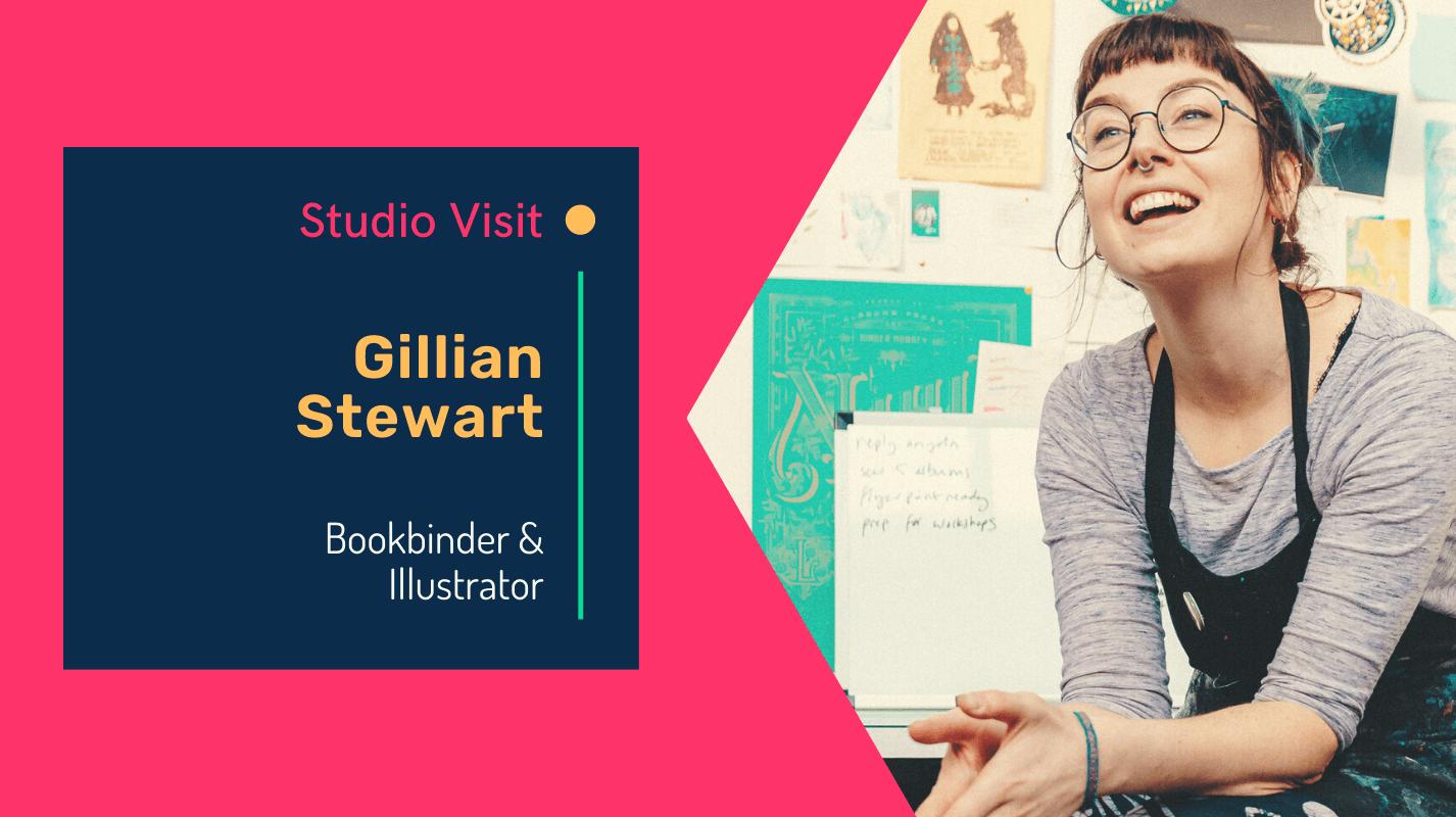 Studio visit with Bookbinder Gillian Stewart of Juju Books