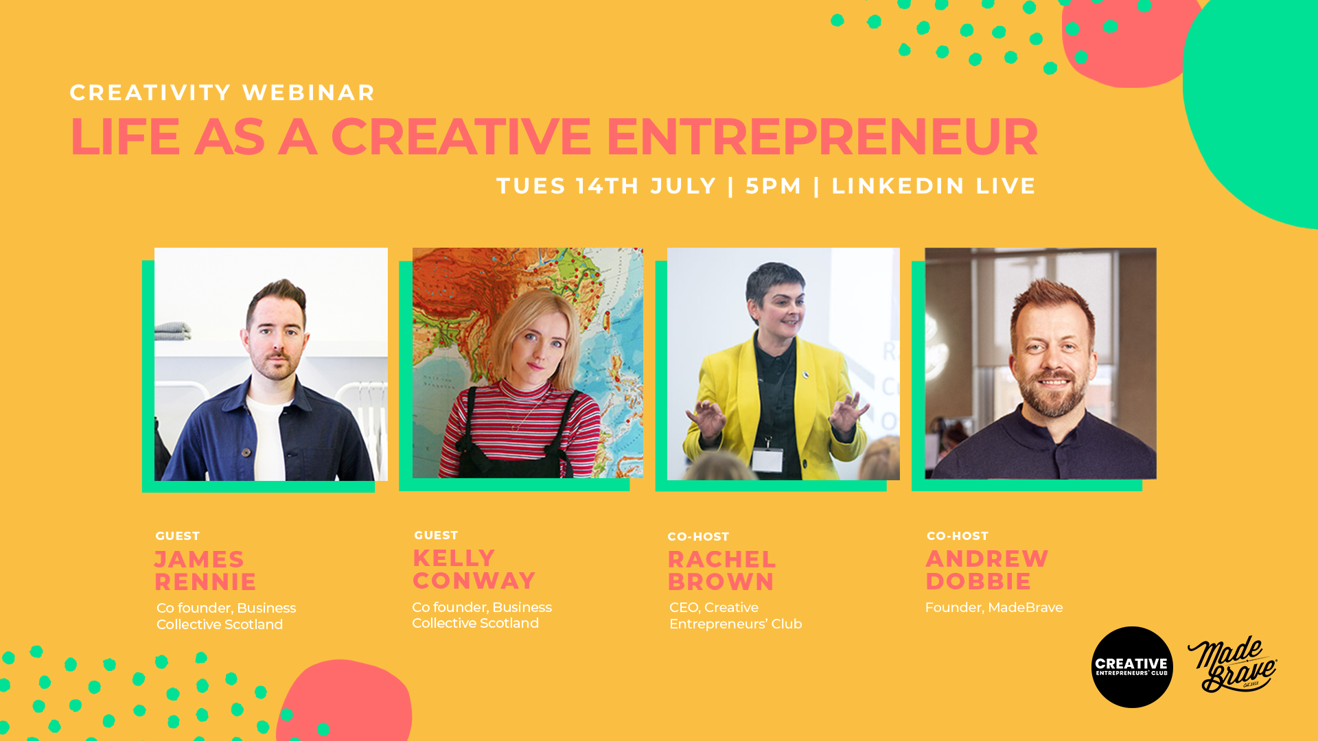 Life as a creative entrepreneur with James Rennie, Kelly Conway & MadeBrave