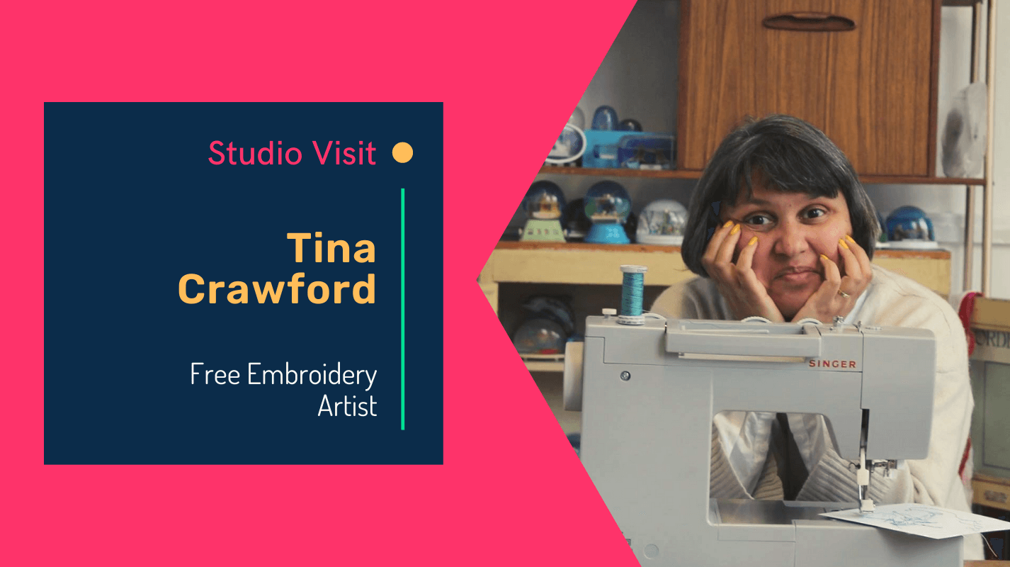 Virtual studio visit with free embroidery artist Tina Crawford