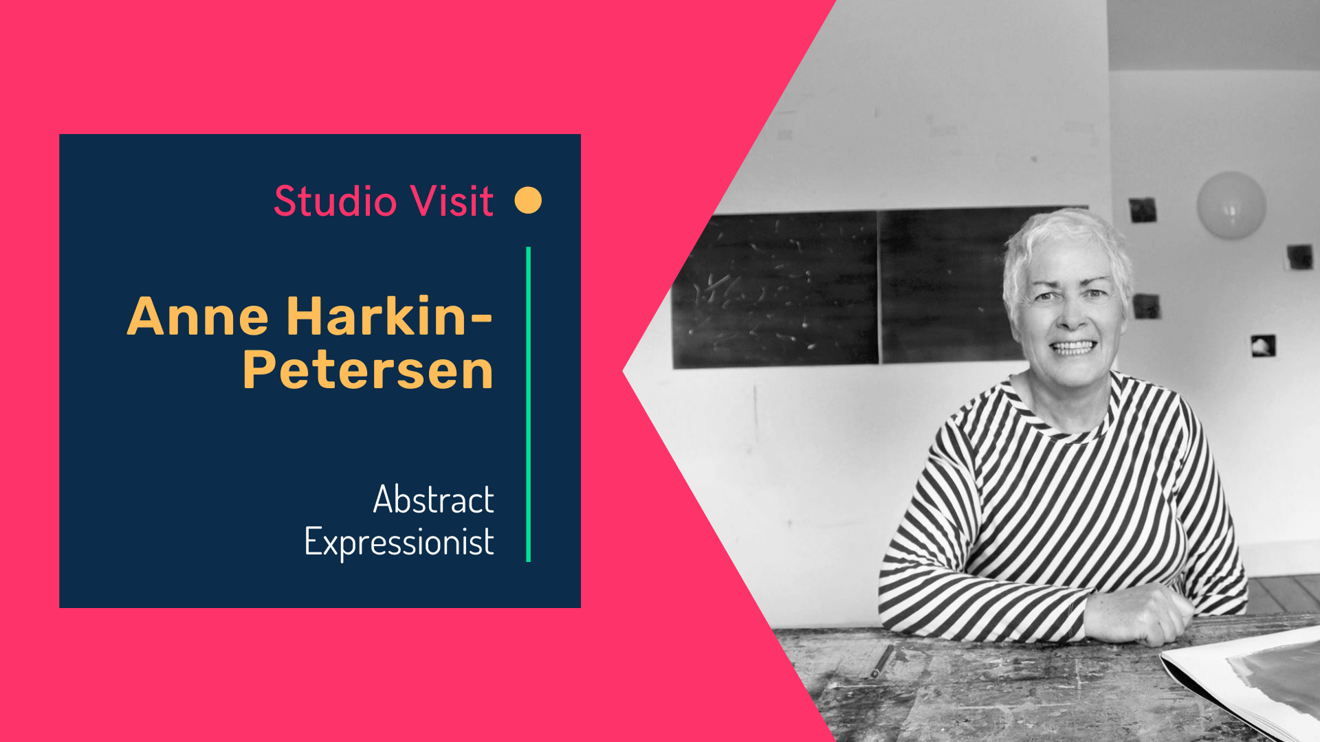 Studio visit with abstract expressionist, Anne Harkin-Petersen