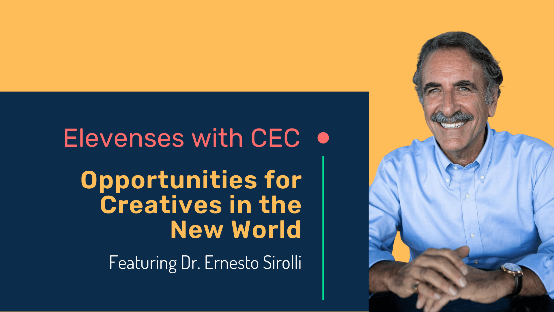 Opportunities for creatives in the new world with Dr. Ernesto Sirolli